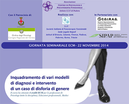 Seminario ECM - Inquadramento di vari modelli di diagnosi e intervento di un caso di disforia in genere